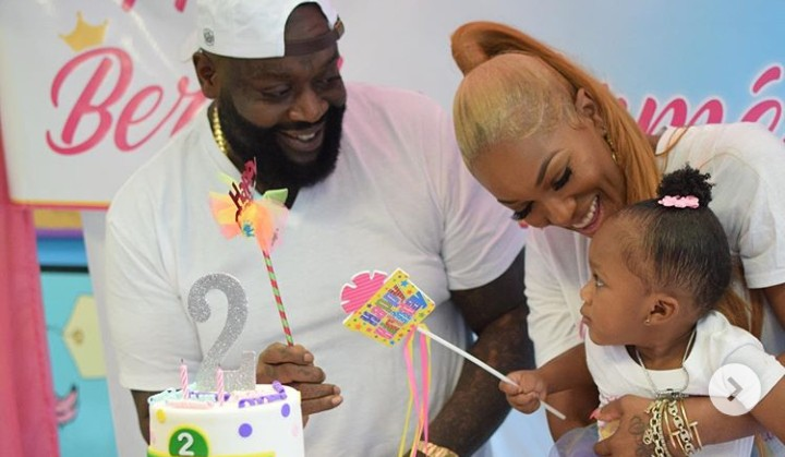 Rick Ross Grabs His Baby Mama's Butt At Daughter's Birthday