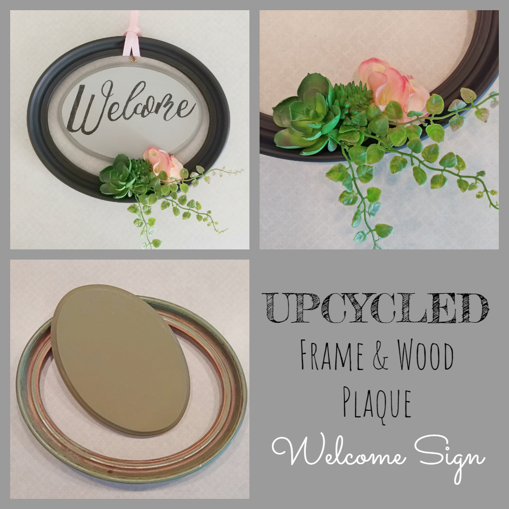 upycled welcome sign