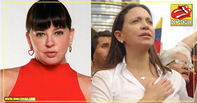 Actriz Chavista Mimi Lazo le envía un mensaje de agradecimiento a María Corina Machado