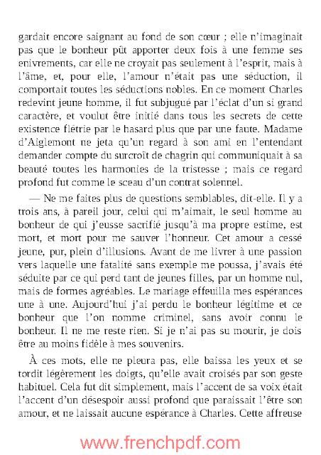 La Femme de trente ans en pdf gratuit par Honoré de Balzac