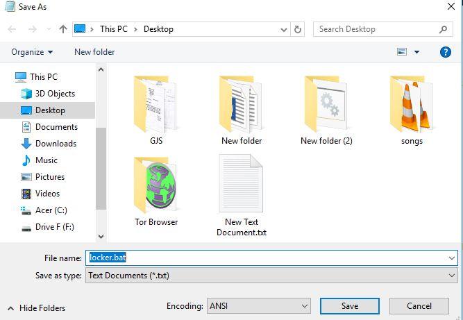 How to make a simple folder locker in windows 10 using CMD