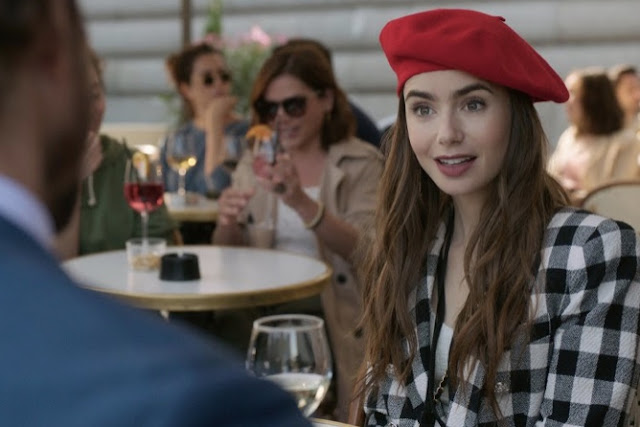 Emily in Paris Red Beret Outfit