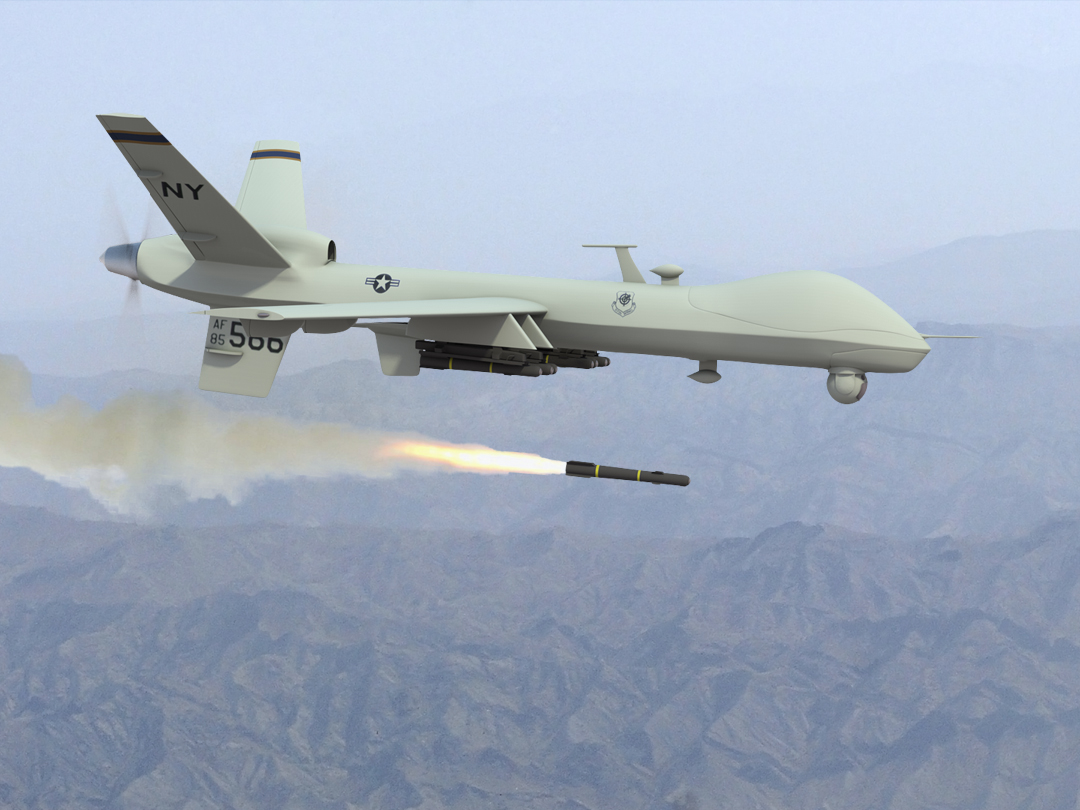 The use of drones in military warfare and surveillance