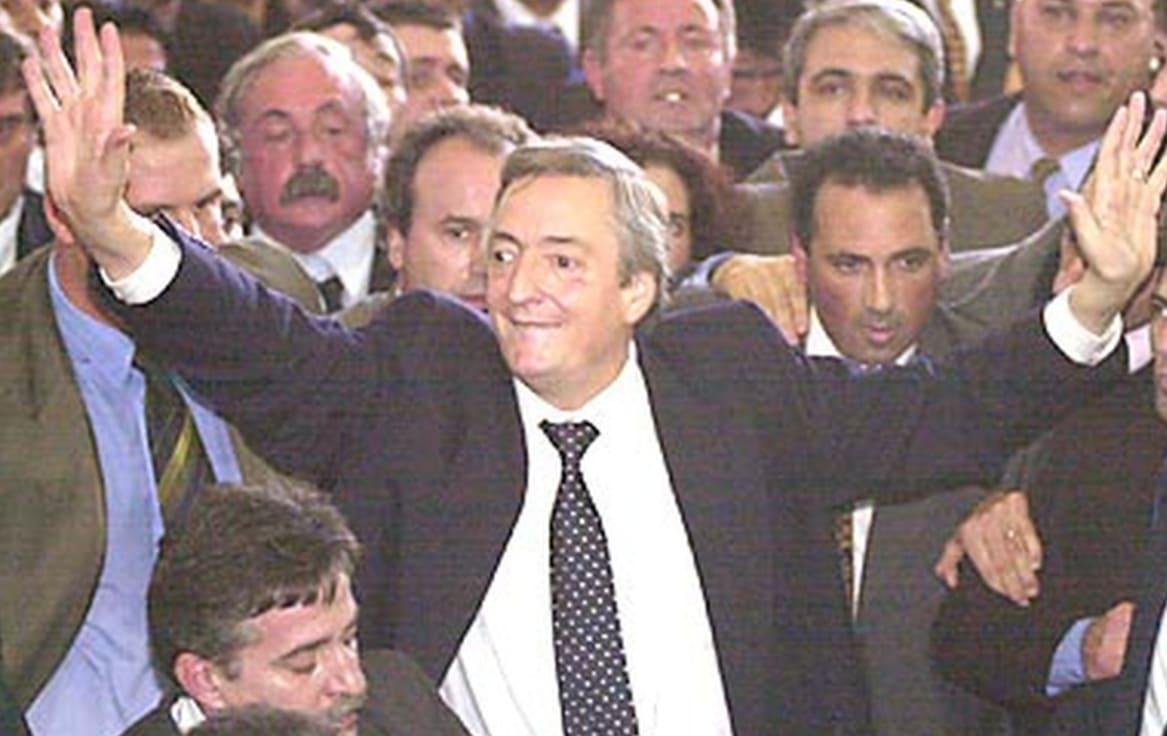 Cuando Néstor Kirchner visitó la ciudad de Balcarce