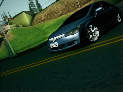 GTA SA - Honda Civic + Rodas Do Audi R8 By TudoGtaSan
