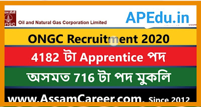 ONGC Recruitment 2020; Apply for 4182 Trade and Technician Apprentice Posts