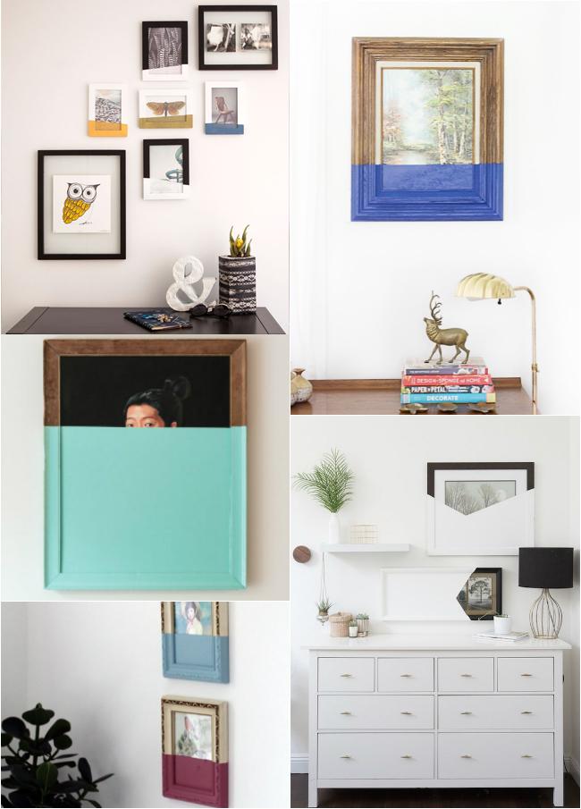 Ideas para decorar las paredes: reutiliza cuadros antiguos
