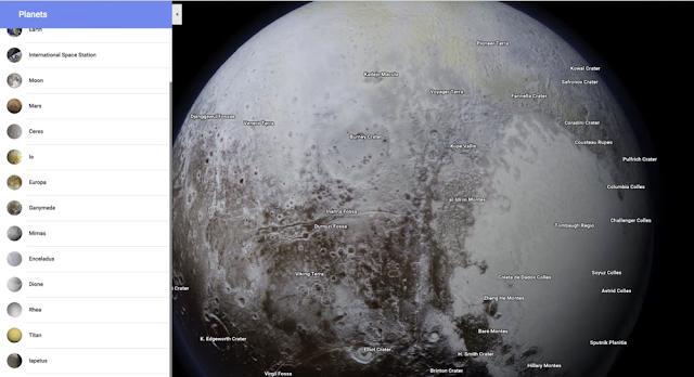 خرائط Google تدعم تصفح العديد من الكواكب والأقمار