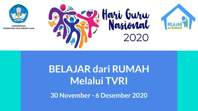 panduan belajar dari rumah bdr tvri tanggal 30 November 1 2 3 4 5 6 Desember 2020 tomatalikuang.com