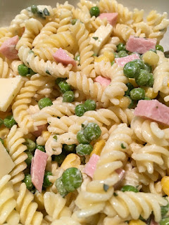 Easy cold pasta recipes with ham and peas