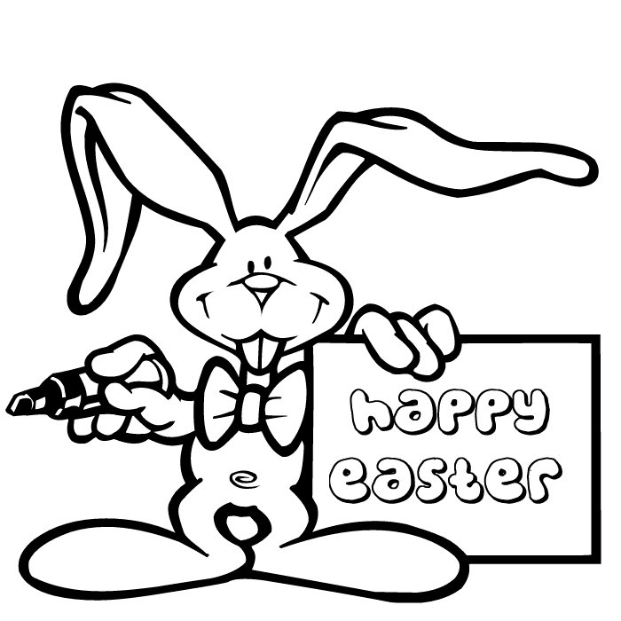 With Trials Happy Easter Of Bunny Coloring Pages