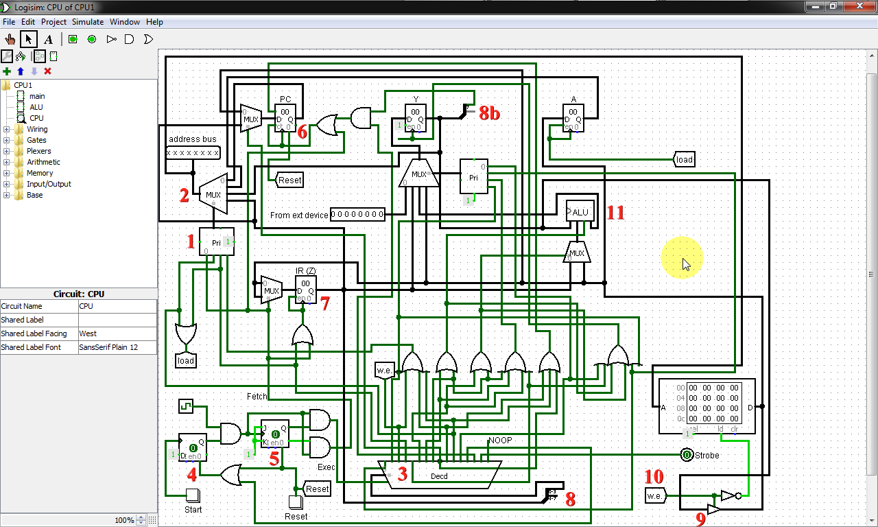 Mark Craigs Blog Testing And Improving My Cpu Design With Logisim Here Is A Logicsim Circuit File Implementing Full Adder Click So Heres Processor In Btw If I Remember Correctly The Teacher Never Collected Or Graded Homework There Was No Absolute Way Of
