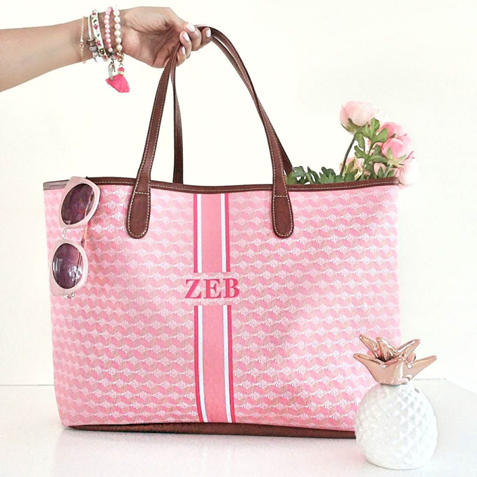 Barrington Gifts St Anne Tote in Pink Geometric Fabric Blogger Outfit Bag Review