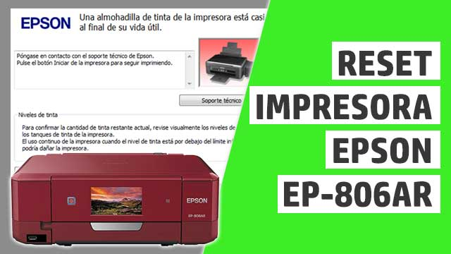 resetear almohadillas impresora Epson EP806AR