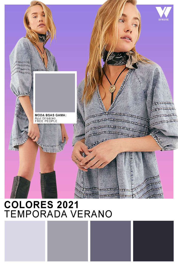 Colores de moda Verano 2021 Azul Grisáceo