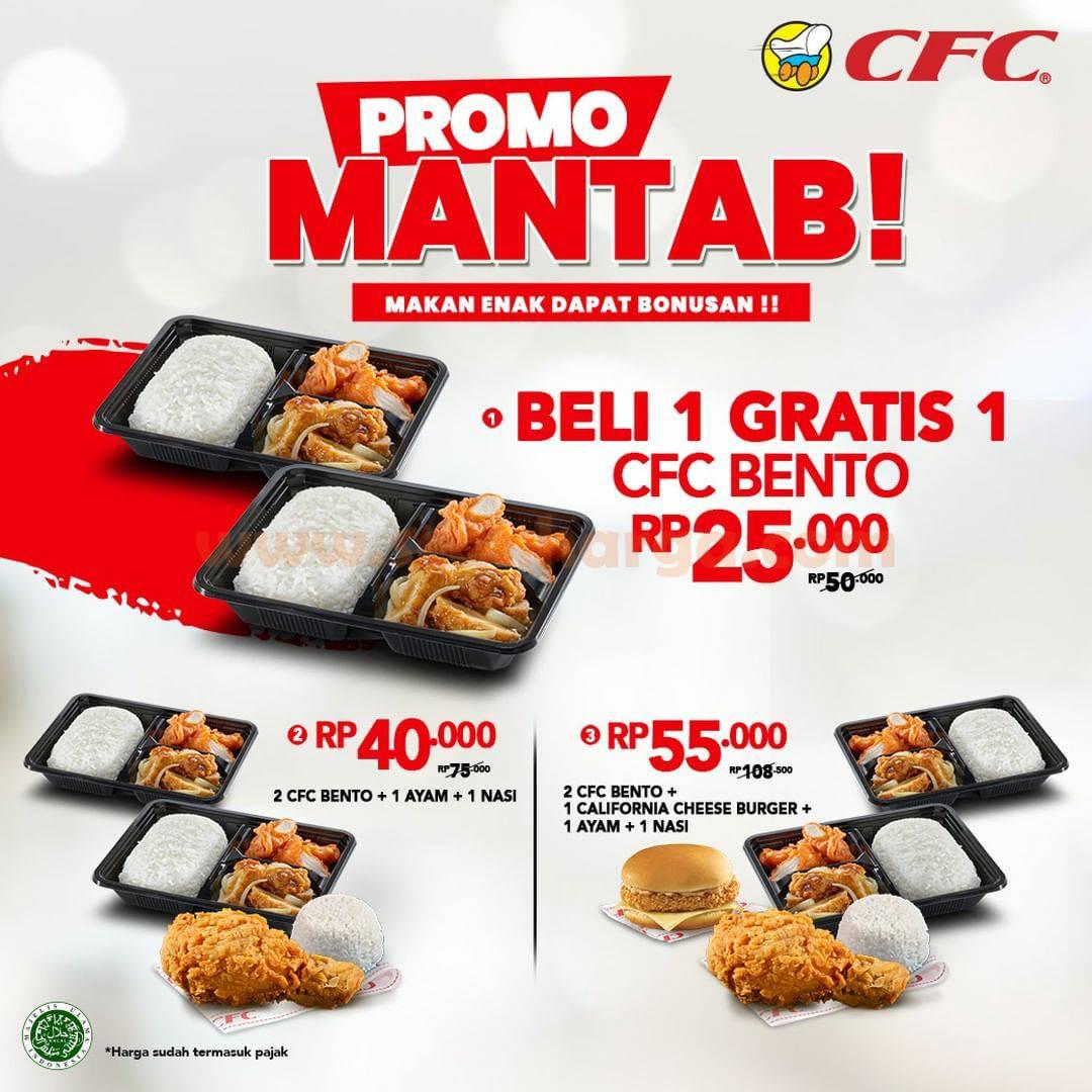 CFC Promo MANTAB Beli 1 GRATIS 1 Harga mulai dari Rp. 25.000