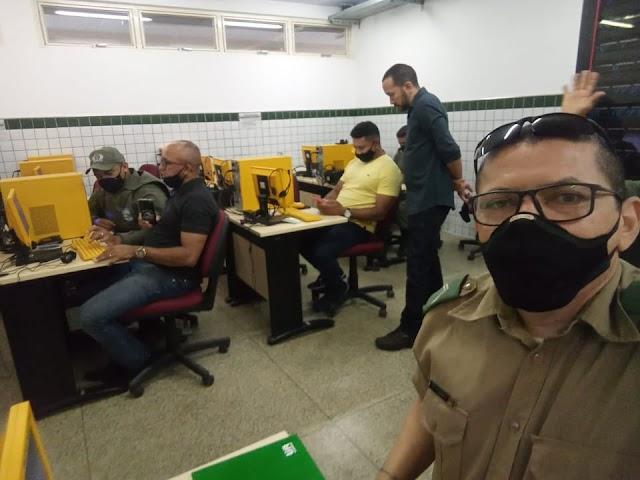 COMANDANTE do GPM de Aroazes participa de curso Sinesp/Infoseg, em Valença do Piauí