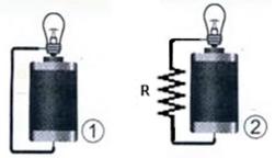 FDSBC 2020: Compare os circuitos abaixo. Na situação 1, temos um gerador de tensão igual a V, alimentando uma lâmpada de potência igual a P