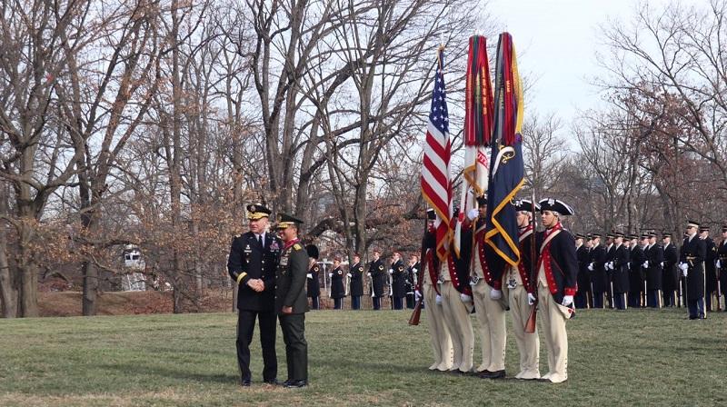 Kasad Menerima Medali Kehormatan Dari Militer Amerika Serikat