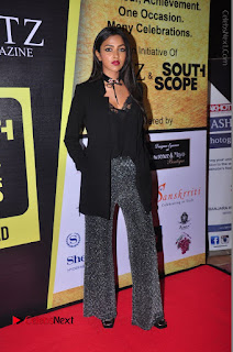 Actress Amala Paul Stills in Black Dress at South Scope Lifestyle Awards 2016 Red Carpet  0092.JPG