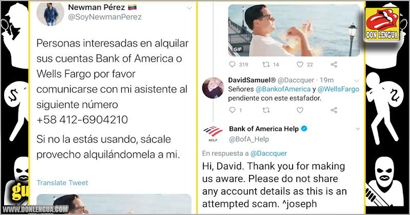 Influencer Newman Perez podría estar tras negocio ilegal de alquiler de cuentas bancarias