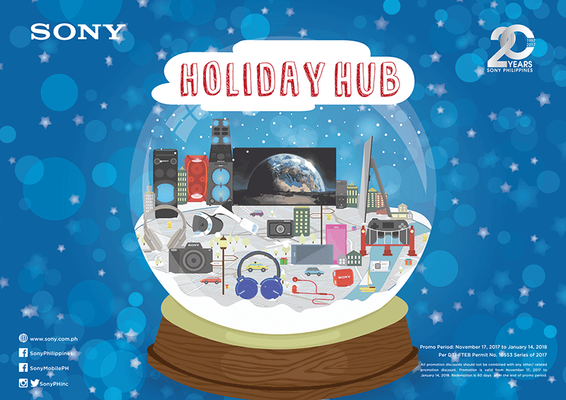 Sony announces Holiday Hub Promo, enjoy freebies and discounts!