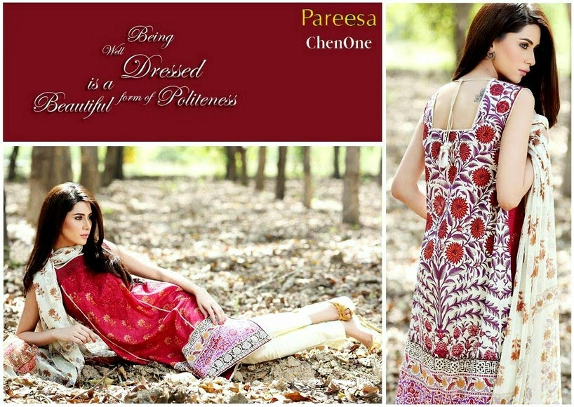 Latest Pareesa Summer Lawn Collection 2014 Vol-2 by Sahar Atif