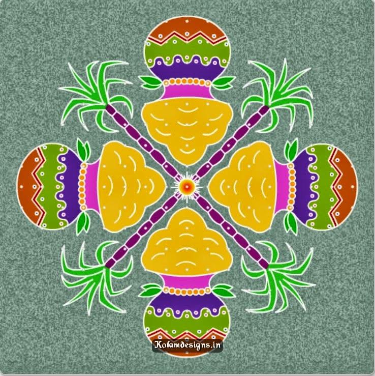 makar sankranti 2015 hand made rangoli