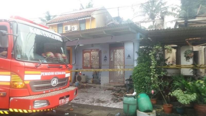 Rumah di Perumahan Taman Ubud Indah yang terbakar