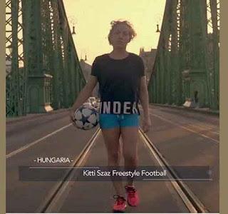 Kitti Szász Freestyler Sepak Bola