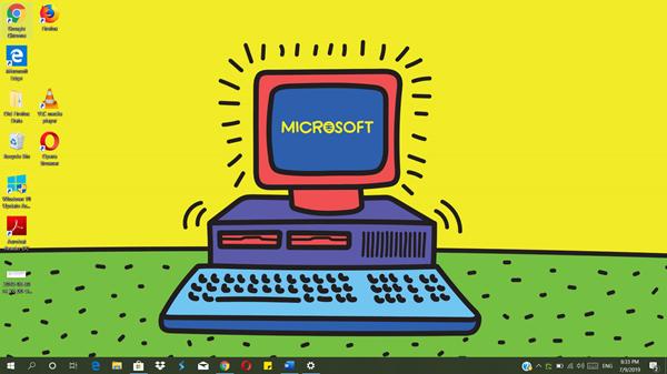 Download tema Windows 1.0 untuk Windows 10 dari Microsoft Store