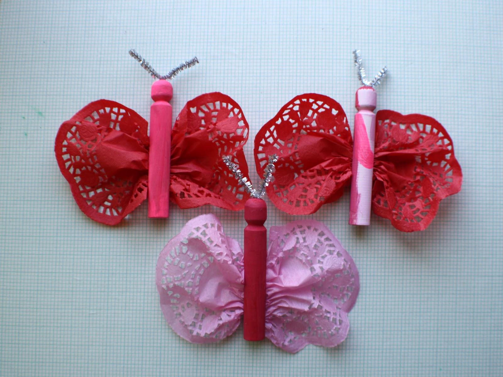 Scrumdilly Do Valentine S Day Doily Butterflies