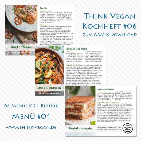 Think Vegan Kochheft #06 . Menü #01