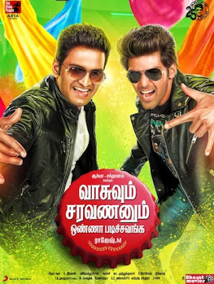 Vasuvum Saravananum Onna Padichavanga 2015 UNCUT Dual Audio Hindi 720p HDRip 1.2GB