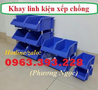 Kệ dụng cụ xếp chồng, khay linh kiện có tắc kê, hộp nhựa cơ khí 4ab3f9cd4805af5bf614