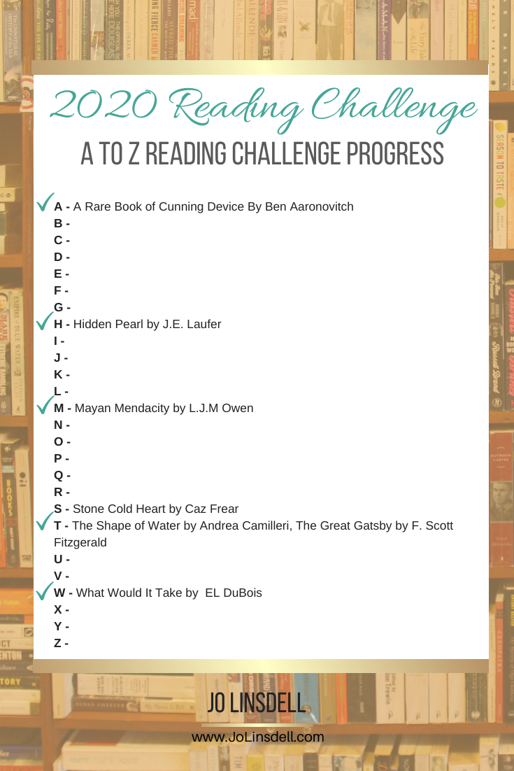 The A to Z Reading Challenge: January 2020 Progress