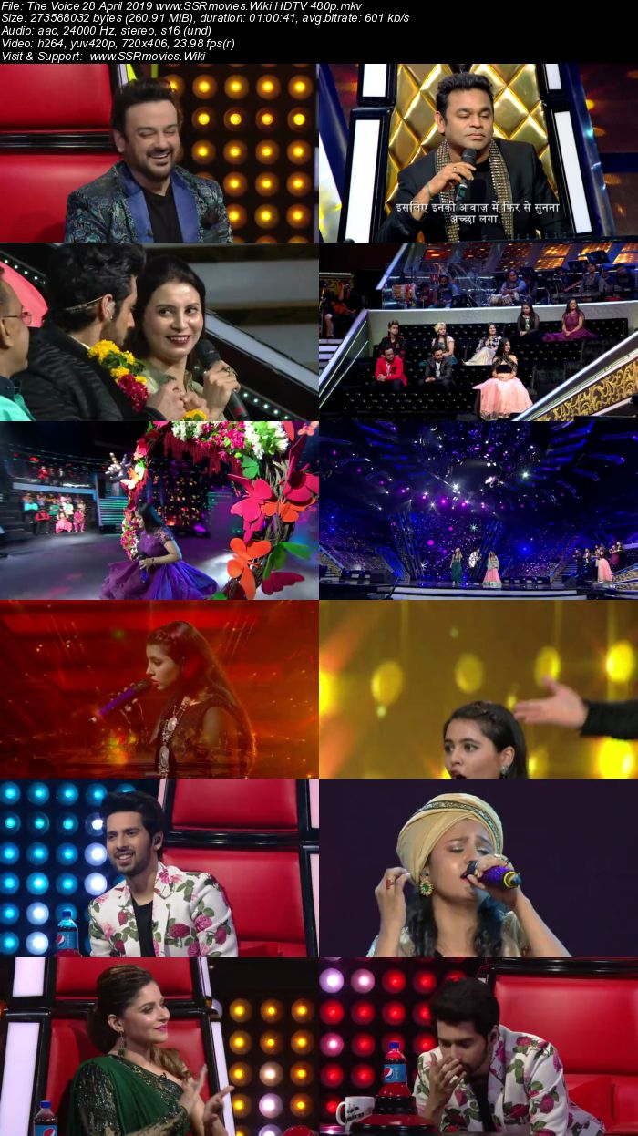 The Voice 28 April 2019 HDTV 480p Full Show Download