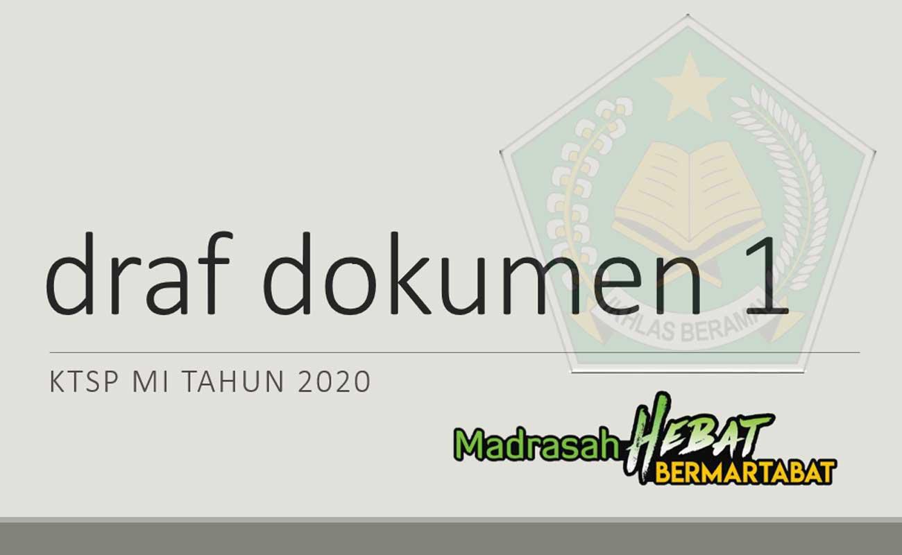 Contoh Dokumen 1 KTSP MI Terbaru 2020