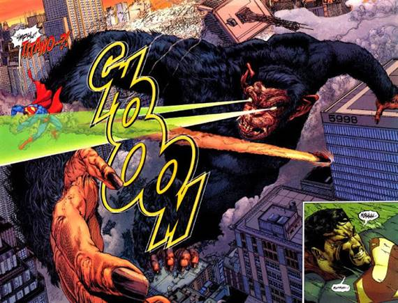 Titano vs Superman en cómic