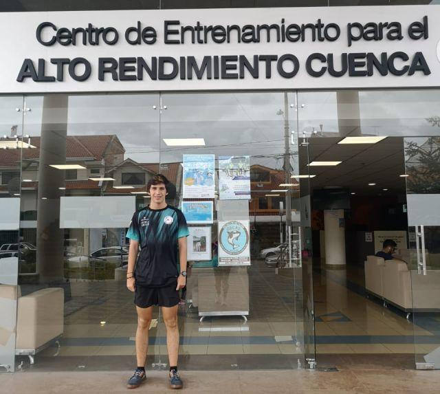 Agustín Silva, atleta osornino en Cuenca, Ecuador
