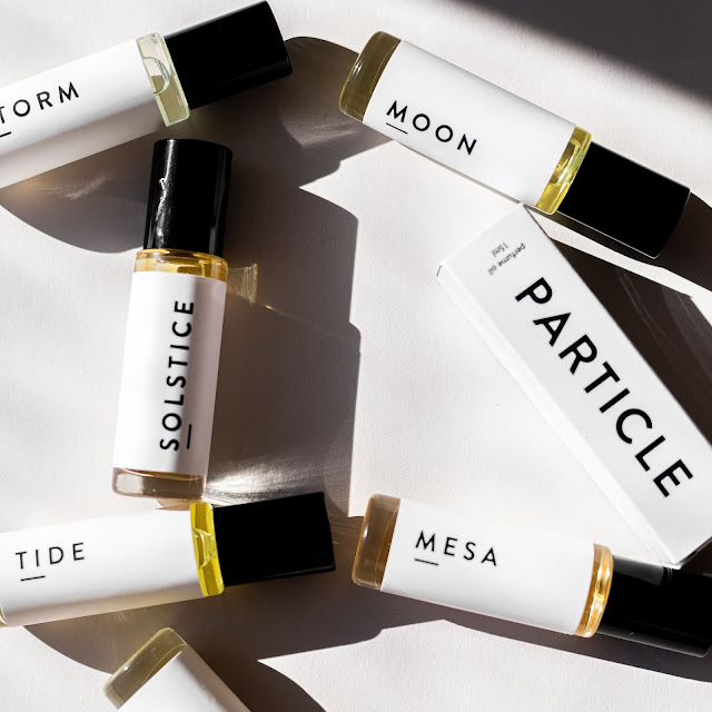 Vials of custom perfumes by Particle Goods
