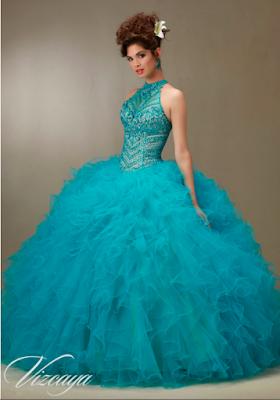 Vestidos de 15 Años Azul Turquesa para fiesta