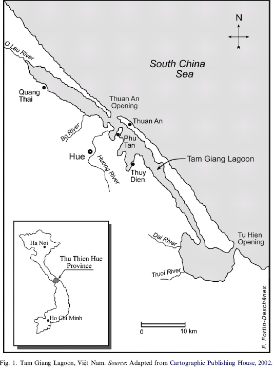 map of Tam Giang Lagoon