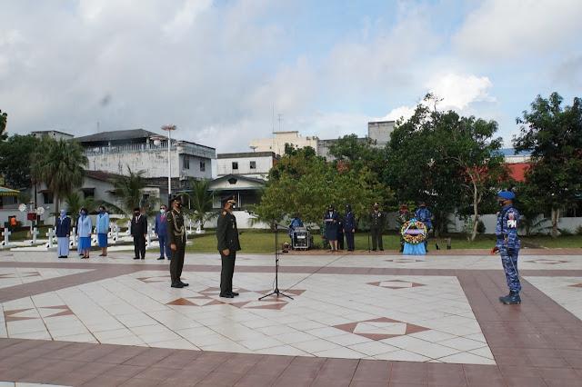 Jelang Hut Ke 75 TNI, WadanLantamal Hadiri Ziarah Nasional