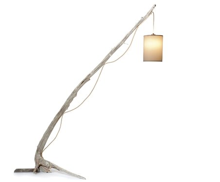 custom made driftwood floor lamp