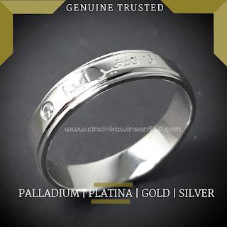 cincin kawin,cincin nikah tunangan lafaz arab custom muslim  terbaru