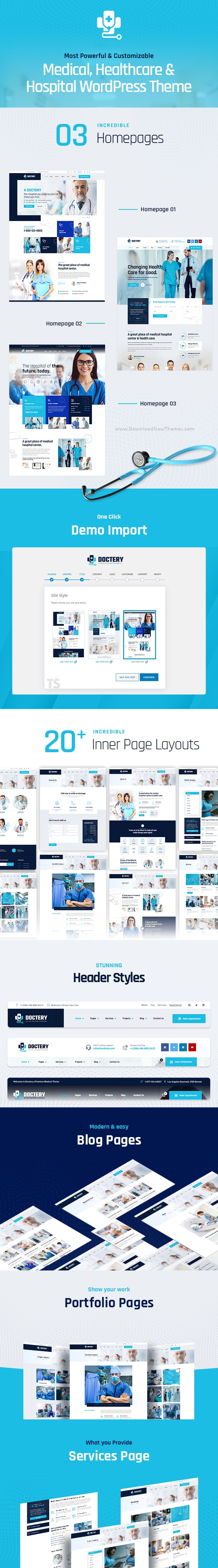 Hospital and Healthcare Website Theme