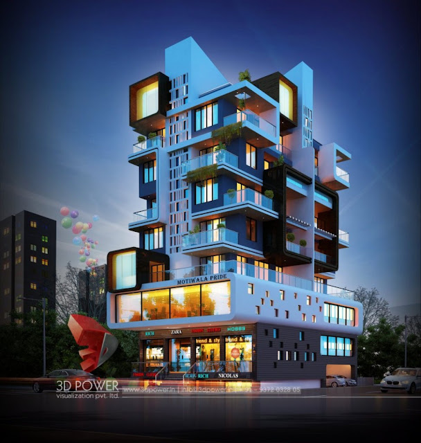 Beautiful Exterior 3d design Rendering