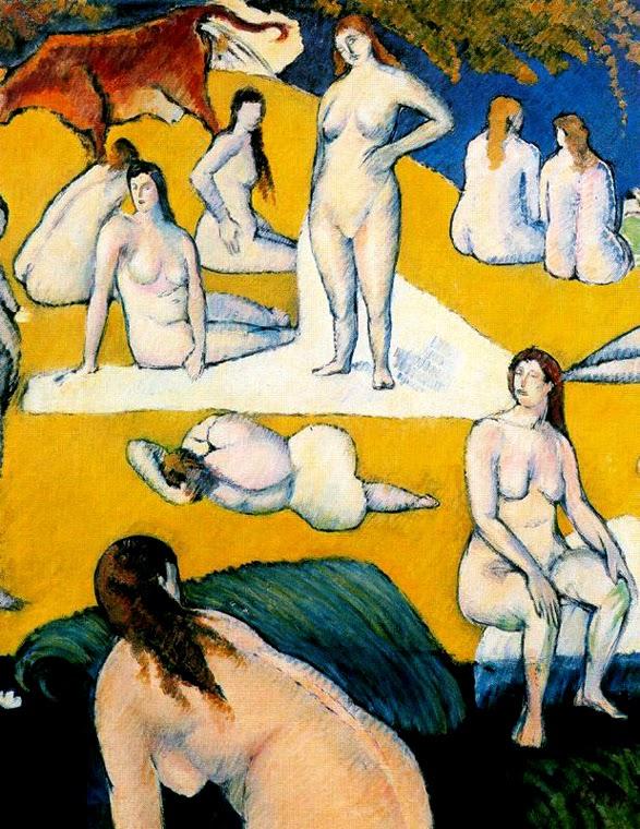 Casa De Banho com uma Vaca Vermalha - Émile Bernard - Émile Bernard e suas principais pinturas