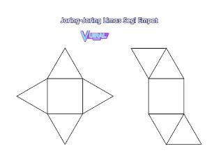 Contoh Gambar Jaring-Jaring Limas Segi Empat